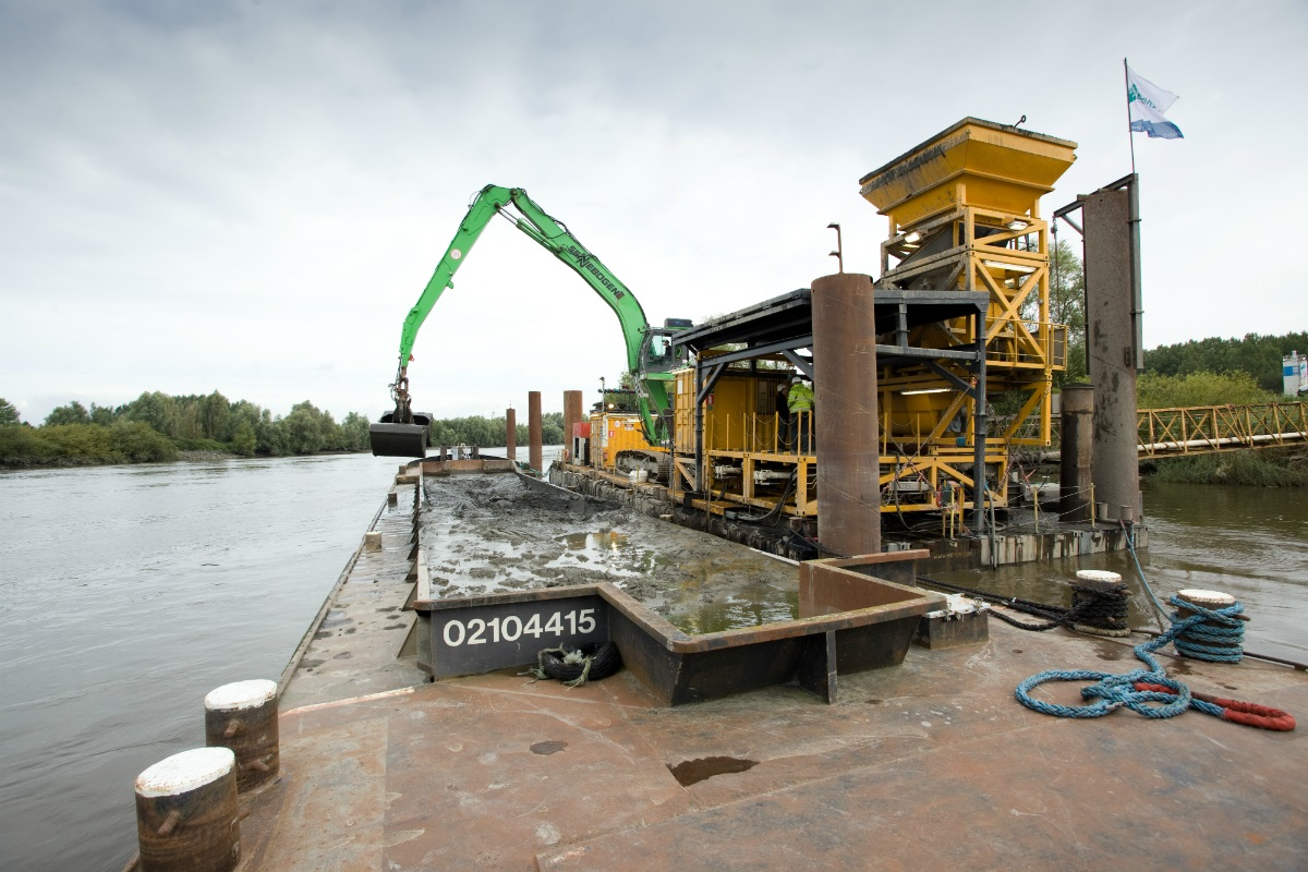 The USAR project investigates how we can re-use dredged material.